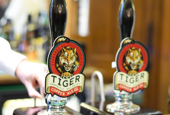 Tiger beer pumps at strangers' bar