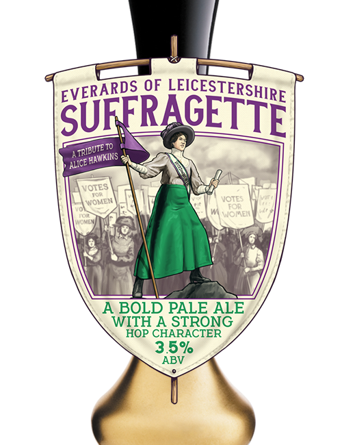 Suffragette on pump