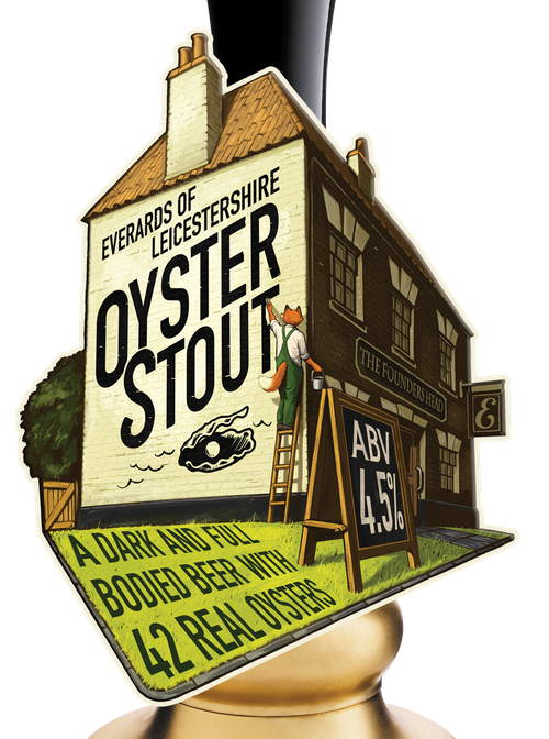 Oyster Stout pump handle